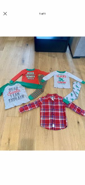 Toddler Boy Christmas Clothes and Pajamas Size 3 for Sale in Wilsonville, OR