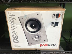 Polk Audio Monitor 30 Bookshelf Speakers for Sale in Oak Park, MI
