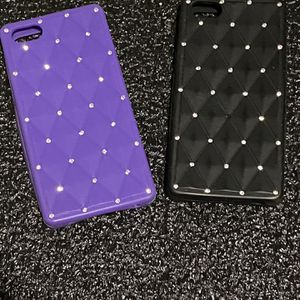 IPhone Cover, Rubber With A Quilted Design With Crystals IPhone 5 Or 6 for Sale in Murrieta, CA
