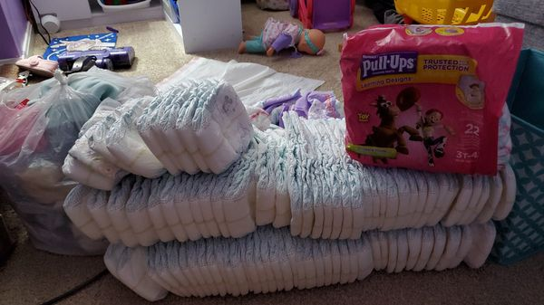 Diapers size 5 & Pull ups size 3t-4t