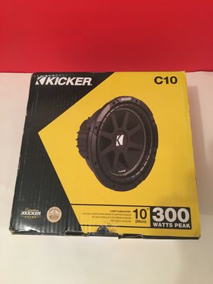 Kicker 10inch subwoofer for Sale in Jersey City, NJ