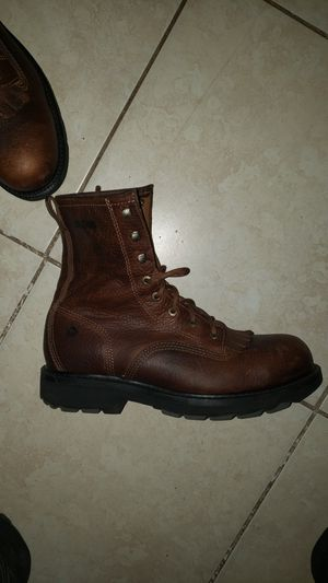 Wolverine Leather Work Boots Slip and Oil Resistant size 11.5 for Sale in Clearwater, FL