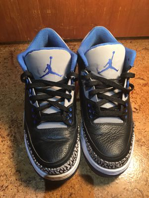 Sport Blue Jordan 3 Size 8.5 TRADES ARE ACCEPTED for Sale in Kenmore, WA