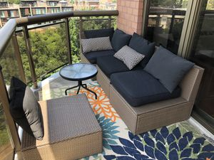 Outdoor furniture with pillows for Sale in Fair Lawn, NJ