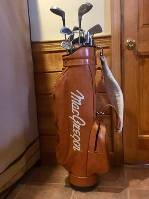 Golf clubs and leather bag for Sale in Westborough, MA