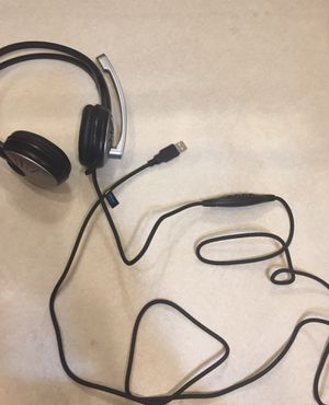 USB Head Set Head Phones with Microphone Attached for Sale in Lake Charles, LA