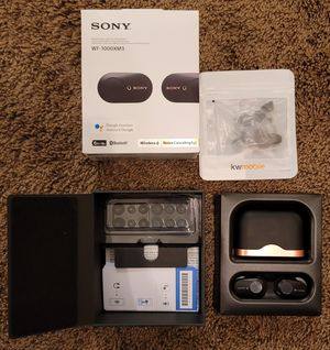 Sony WF-1000XM3 Wireless Noise Cancelling Headphones - Black - Excellent Condition for Sale in Rochester, MI