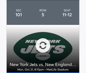 Jets Pats tickets for Sale in Jupiter, FL