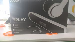 Coby 3 in 1 Bluetooth speaker , headphones and earbuds for Sale in Kissimmee, FL