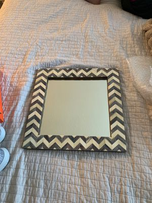 Square Herringbone/Chevron Mirror for Sale in Newport Beach, CA