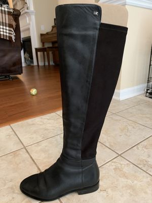 Michael Kors Bromley Black Leather Riding Boots for Sale in Mt. Juliet, TN