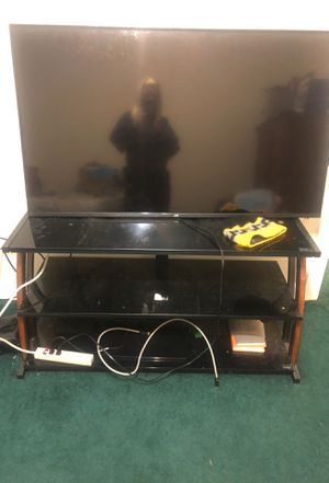 Glass TV stand with 3 shelves! REDUCED TO $25!!!! for Sale in Greensboro, NC