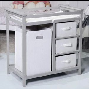 BRAND NEW!! 2 Colors Infant Diaper Storage Changing Table W/ 3 Baskets-Gray for Sale in Fountain Valley, CA