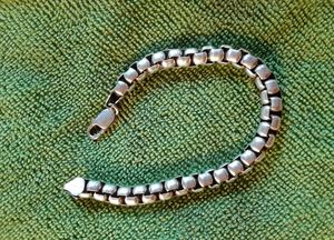 """43 gram Solid Sterling Silver 925 Heavy Box Link 8."""" Long 5mm Bracelet Made in ITALY for Sale in Tampa, FL"""