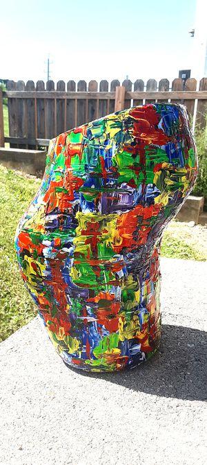 """11"""" ORIGINAL MODERN HAND PAINTED OFF-SET VASE. for Sale in Cincinnati, OH"""