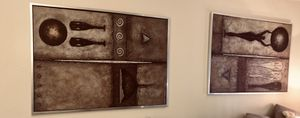 Large 2 piece framed abstract art for Sale in Phoenix, AZ