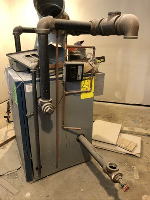 2yr old gas broiler and hot water heater for free. It's the real deal it's super heavy. This thing is worth over 5k come fast!! for Sale in Baltimore, MD