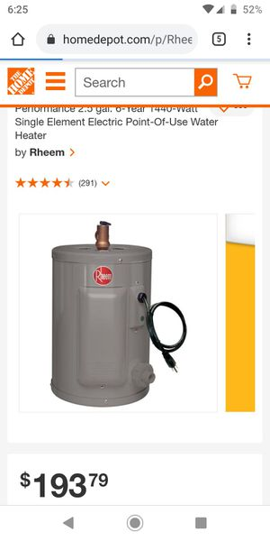 Rheem water heater for Sale in Citrus Hills, FL