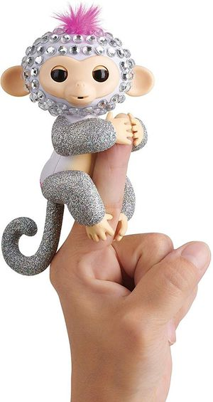 WowWee Fingerlings Monkeys - Fingerblings - Sparkle (White/Silver) - Friendly Interactive Toy for Sale in Las Vegas, NV