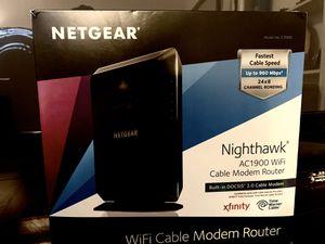 NETGEAR NIGHTHAWK Cable Modem Router - Like new for Sale in Murfreesboro, TN