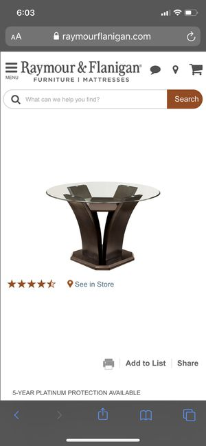 """48"""" round glass dining table with chairs for Sale in Jersey City, NJ"""