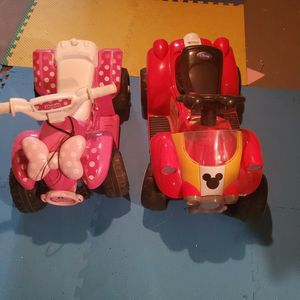Micke And Mini mouse electric Cars Each 20.00 for Sale in Philadelphia, PA