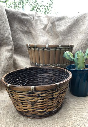 Vintage, Mid Century, Boho, Hippie, bamboo plant or storage baskets for Sale in Playa del Rey, CA
