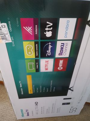 55 inch smart 4k tv brand new in box with warranty for Sale in Pittsburgh, PA