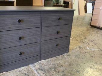 grey 6 drawer dresser $160 for Sale in Anaheim,  CA