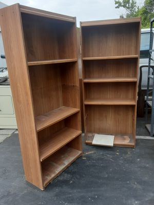 Two cabinets with three shelves each selling as pair size 30x71 / dos gabientes con rackas size 30x71 for Sale in National City, CA