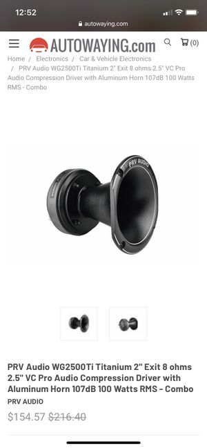 Prv audio horns for Sale in Queens, NY