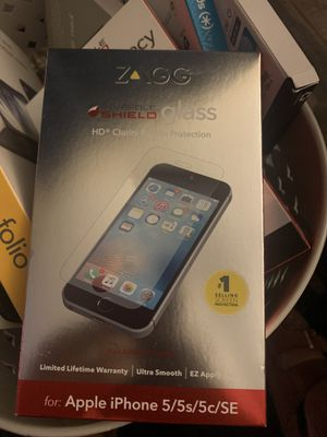 Zagg Invisible Shield Glass for IPhone 5/5s/5x/SE for Sale in Bakersfield, CA