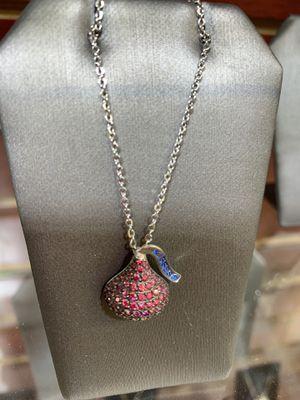 Nostalgic Pink CZ Hershey Kiss Necklace for Sale in Davie, FL