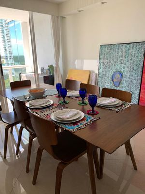 West Elm Wooden Dining Table with 8 Chairs for Sale in SUNNY ISL BCH, FL