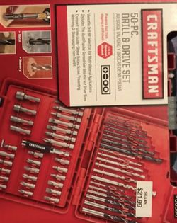 Craftsman Drill & Drive Set - 50 Pieces for Sale in San Antonio,  TX