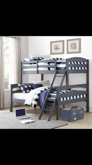 Twin over full bunk bed wood for Sale in Dallas, TX