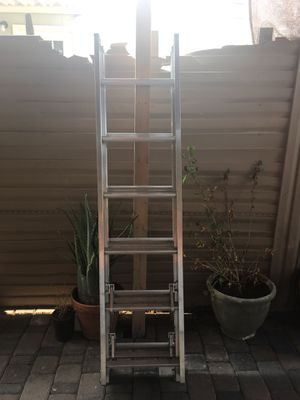 """Authentic """" Werner"""" Ladder with Flexible Extended System 100 % Aluminum 225 capacity and 18"""" Longe - Basically - New for Sale in Mesa, AZ"""