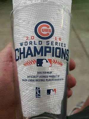 Chicago cubs 2016 championship glasses made in USA for Sale in Peoria, IL