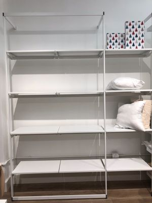 Retail Fixture ALU Italian white metal shelving for Sale in Yonkers, NY