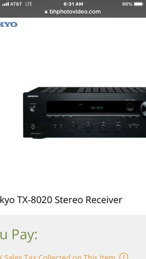 Onkyo Receiver for Sale in Schertz, TX