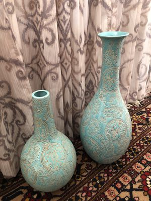 Home decor vase set of 2 for Sale in San Diego, CA