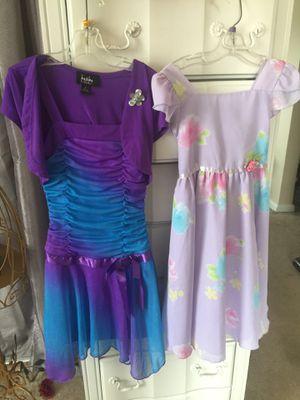 Little girls Dresses pretty purple (7 & 6x ) sold separate euc for Sale in Northfield, OH