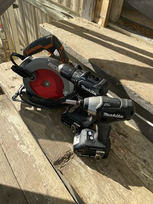 2 makita drills and 1 ridge saw for Sale in Brentwood, CA