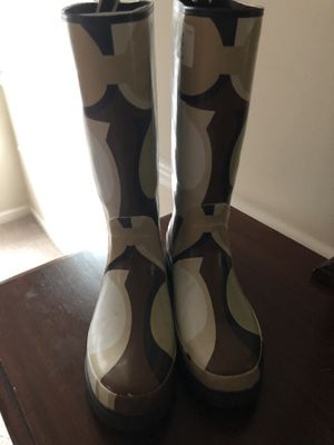 New Brown/Tan Coach Rain Boots for Sale in Stonecrest, GA