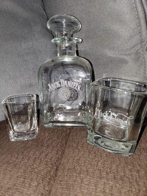 Jack Daniel's Old No. 7 Decanter, tumbler and shot glass for Sale in La Habra, CA