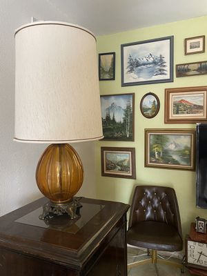 Amber glass shade lamp for Sale in Ontario, CA