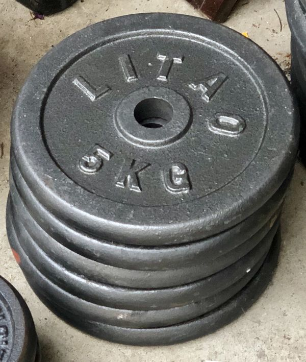 Barbell dumbell weightlifting plates