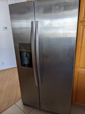 Whirlpool 26.5L Refrigerator WRS537SIAM00 Stainless Steel for Sale in City of Industry, CA