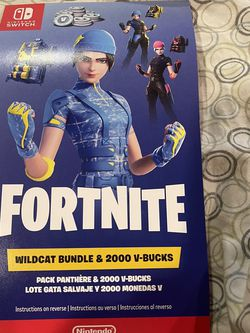 Nintendo Switch Fortnite Wildcat Bundle USA Code + 2000 V-Bucks (Unscratched) for Sale in Woodbridge Township,  NJ