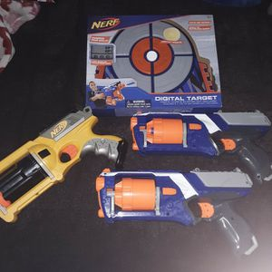 Nerf Target NEW And 3 Nerf Guns for Sale in Phoenix, AZ